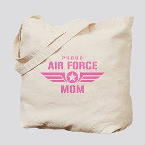 Proud Air Force Mom W [pink] Tote Bag